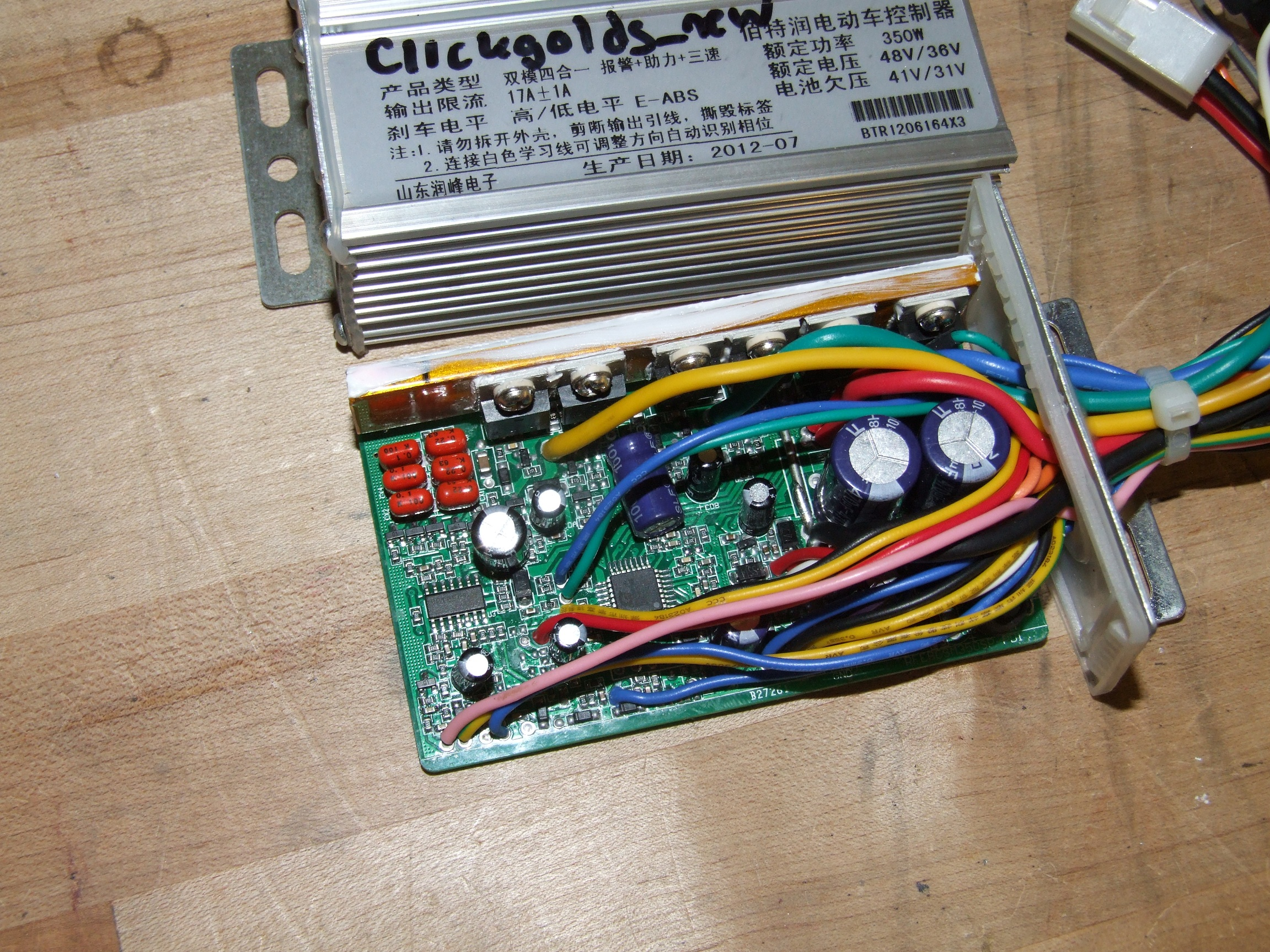 Beyond Unboxing Sensorless Chinese E Bike Controller Roundup Simple Miniature Motor By Lm317 Electronic Projects A Long Time Was Spent Staring At The 6 Random Little Capacitors Where Regulator