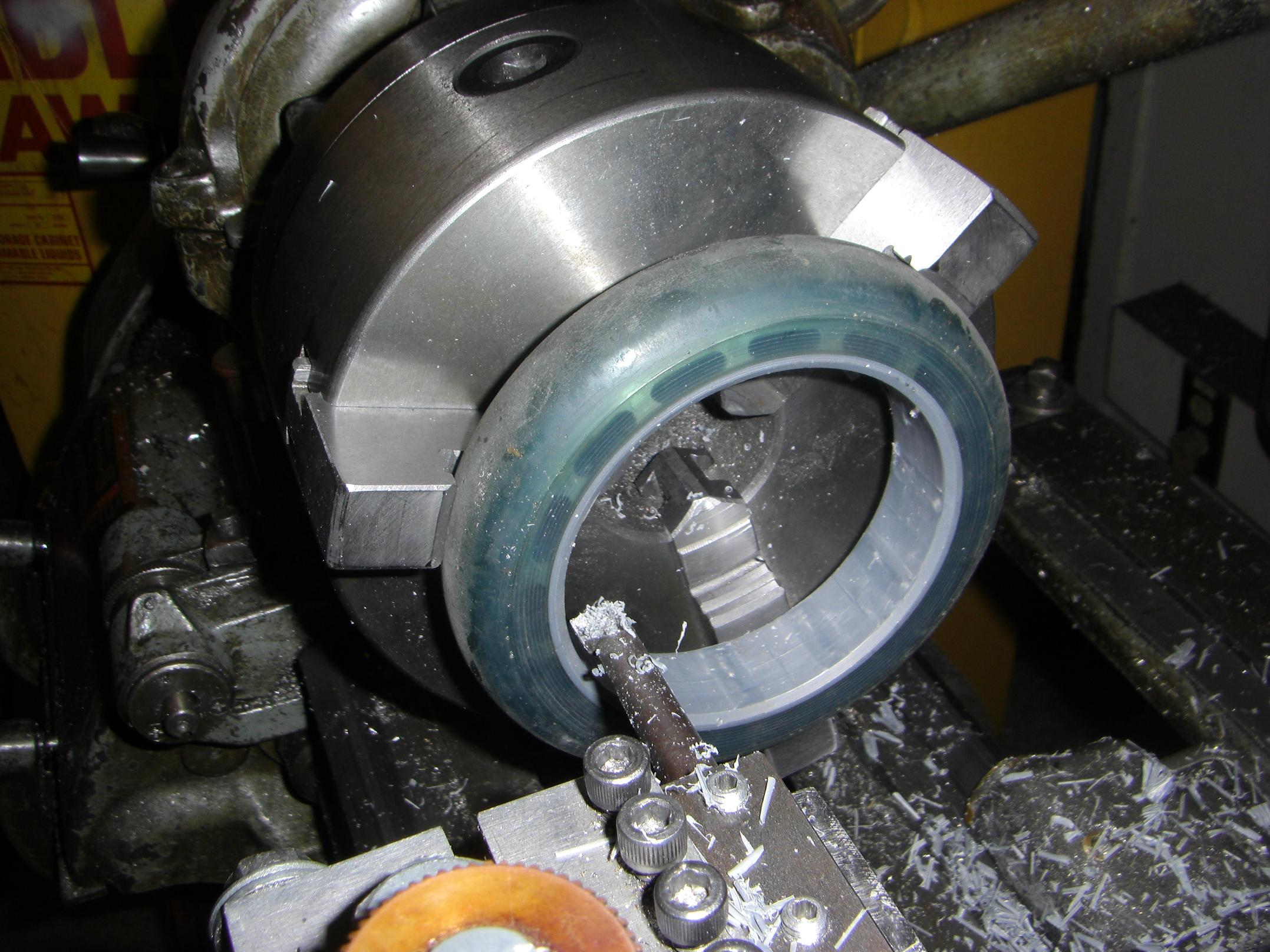 machining close tolerance polyurethane bore
