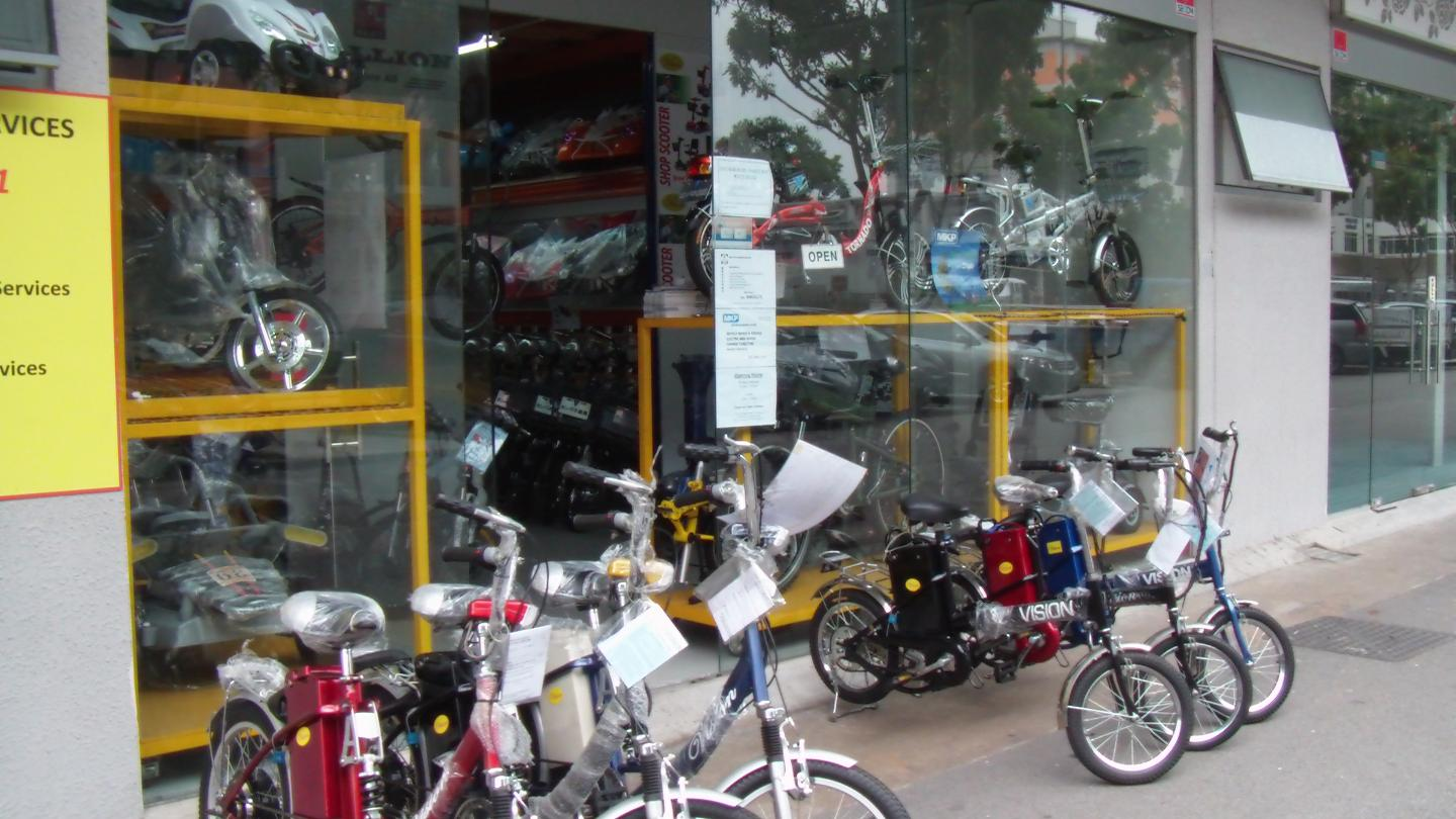 What is a singapore equals zero for Motorized bicycle repair shop